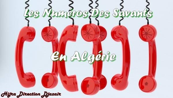 Numéros des savants Algériens